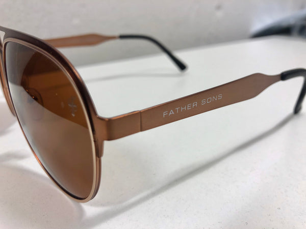 Father Sons Brushed Copper Sunglasses - FSS018