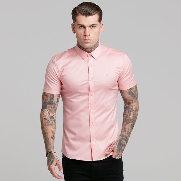 Father Sons Super Slim Luxe Ultra Stretch Pink Short Sleeve -  FS390  (PRE ORDER / DISPATCH DATE - 29TH OCTOBER)
