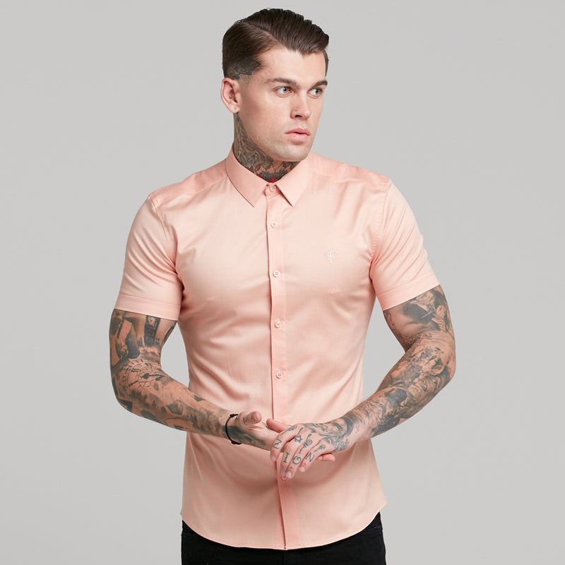 Father Sons Super Slim Luxe Ultra Stretch Peach Short Sleeve -  FS382