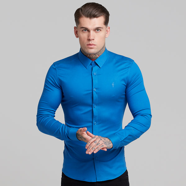 Father Sons Super Slim Luxe Ultra Stretch Mid Blue Long Sleeve -  FS383