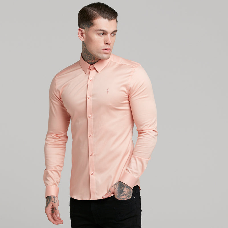 Father Sons Super Slim Luxe Ultra Stretch Peach Long Sleeve -  FS381