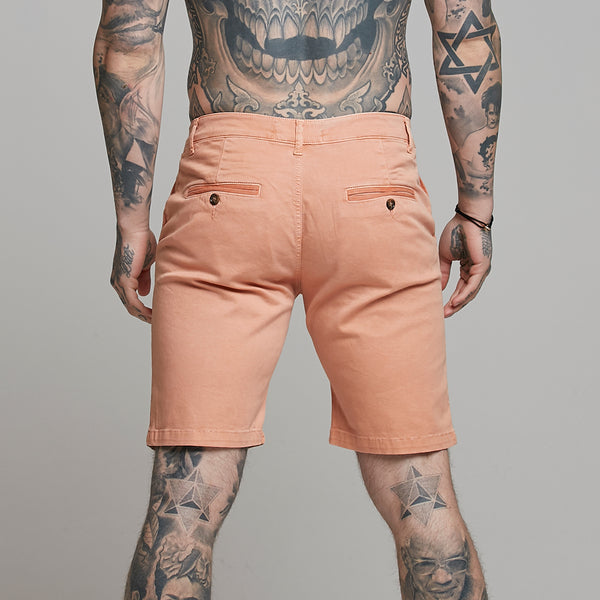 Father Sons Slim Fit Salmon Chino Shorts - FSH317