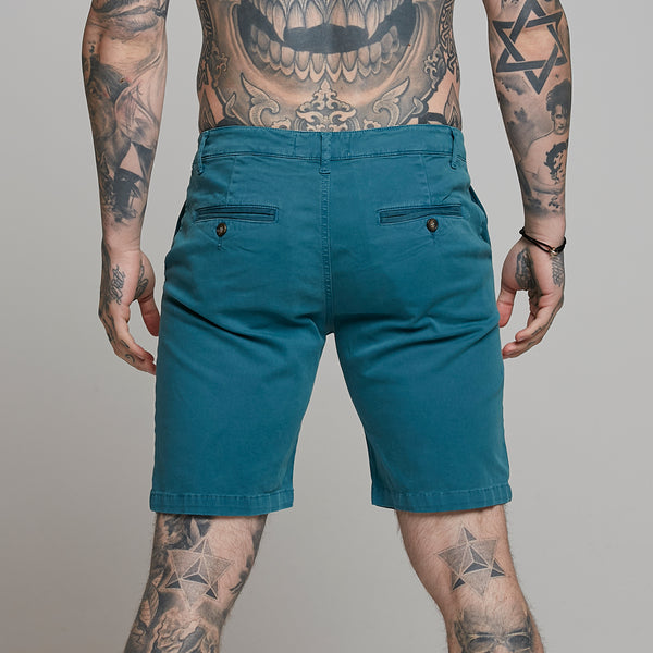 Father Sons Slim Fit Teal Chino Shorts - FSH315