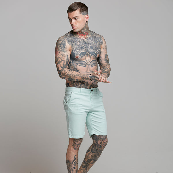 Father Sons Slim Fit Aqua Chino Shorts - FSH318