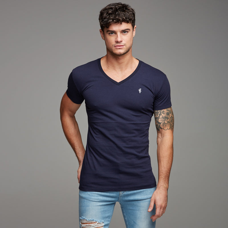 Father Sons Classic Navy V Neck -  FSH191