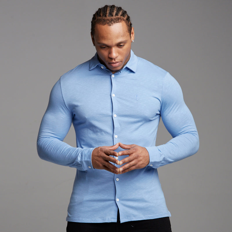 Father Sons Super Slim Baby Blue Jersey - FSH04