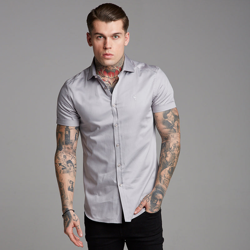 Father Sons Classic Grey Luxe Egyptian Cotton Short Sleeve - FS375