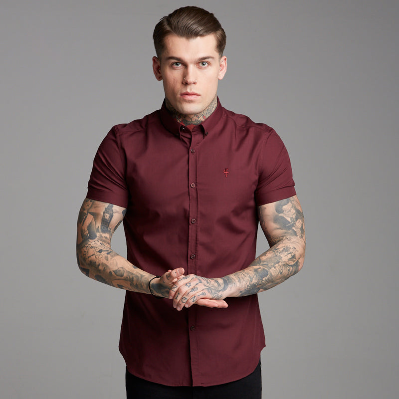 Father Sons Classic Tonal Burgundy Short Sleeve - FS366