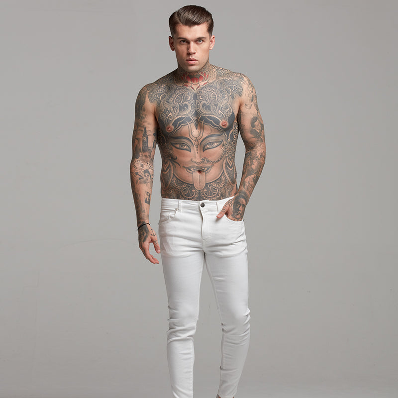 Father Sons Ultra Stretch White Jeans - FSH259