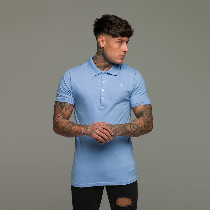 Father Sons Classic Baby Blue Polo Shirt - FSH049