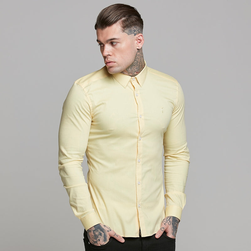 Father Sons Super Slim Ultra Stretch Yellow Long Sleeve - FS475