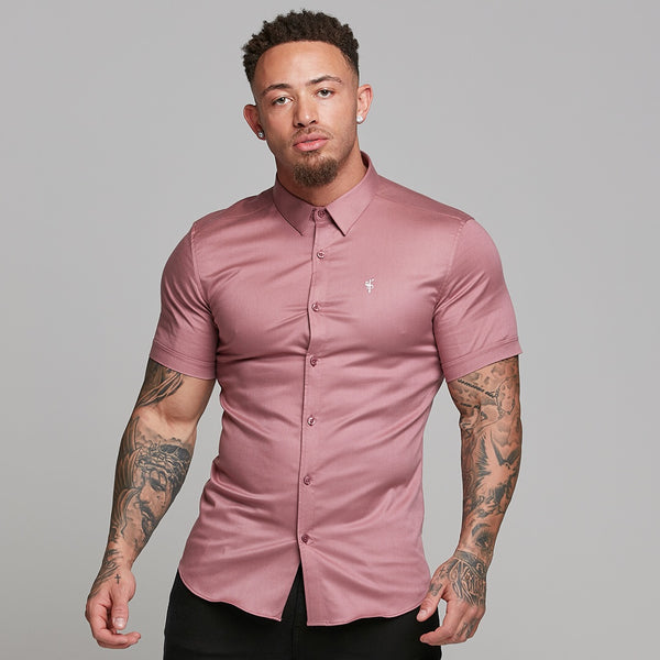 Father Sons Super Slim Luxe Ultra Stretch Mauve Short Sleeve -  FS544