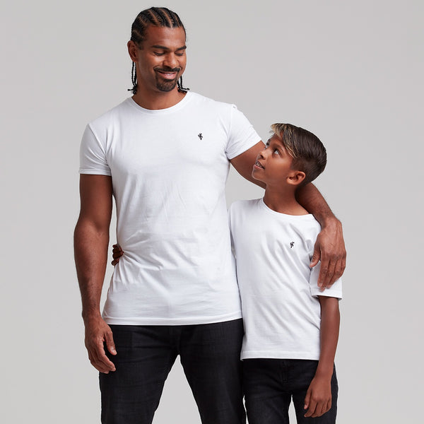 Father Sons Boys Classic White Crew - FSB017T