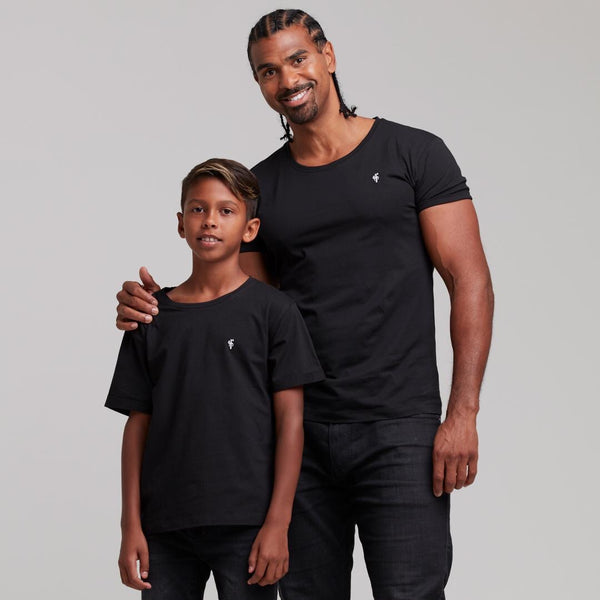Father Sons Boys Classic Black Crew - FSB023