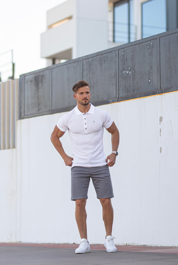 Father Sons Slim Fit Slate Grey Chino Shorts - FSH641