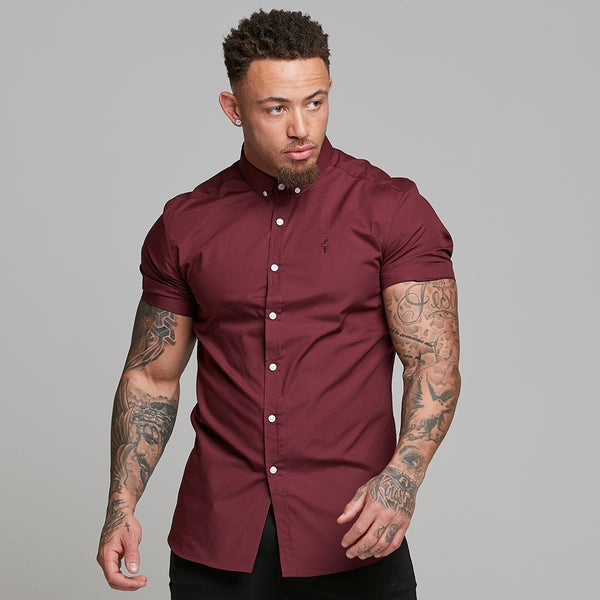 Father Sons Classic Burgundy Short Sleeve - FS138
