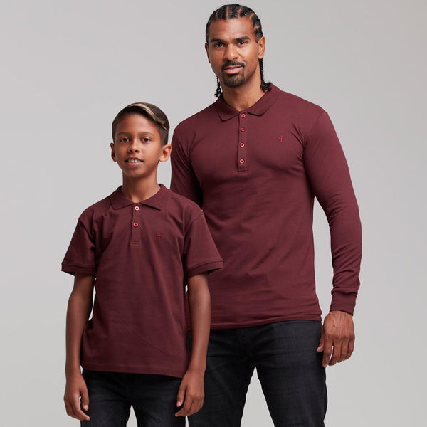 Father Sons Boys Classic Burgundy Polo Shirt - FSB022