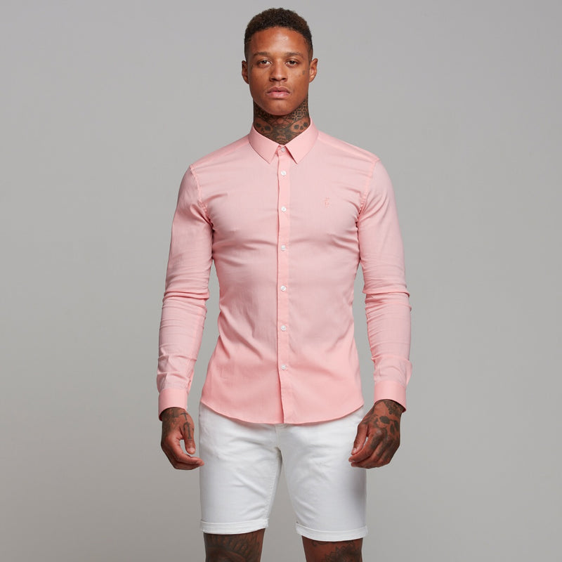 Father Sons Super Slim Ultra Stretch Pink Long Sleeve - FS476