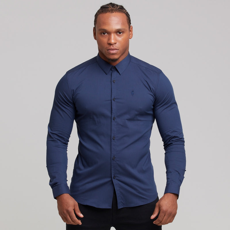 Father Sons Super Slim Stretch Classic Navy - FS143
