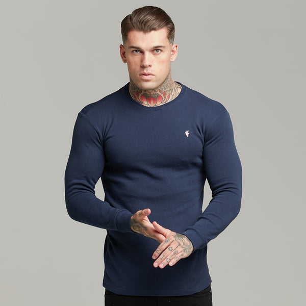 Father Sons Classic Navy Super Slim Jumper - FSH410