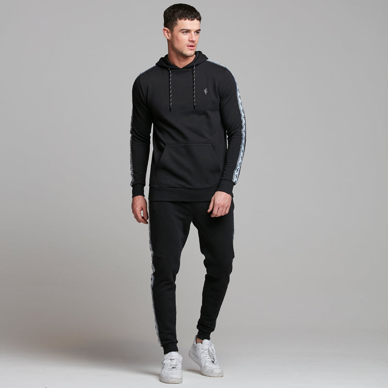 Father Sons Tapered Black Hoodie Top - FSM001