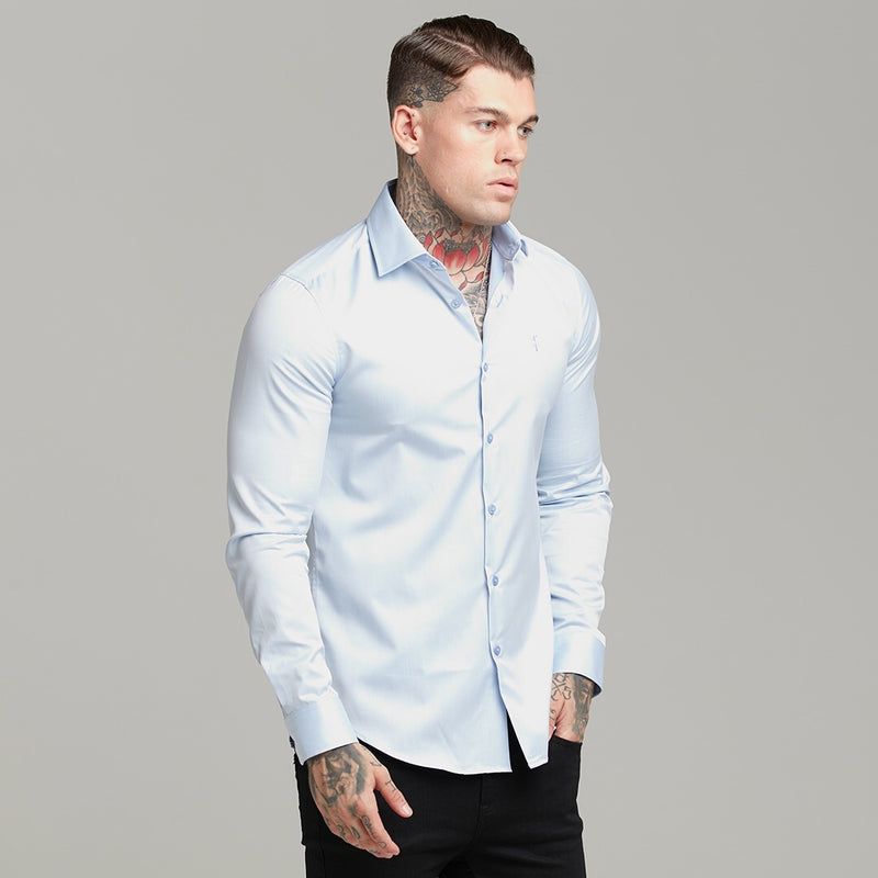 Father Sons Classic Light Blue Twill Cutaway Collar - FS601