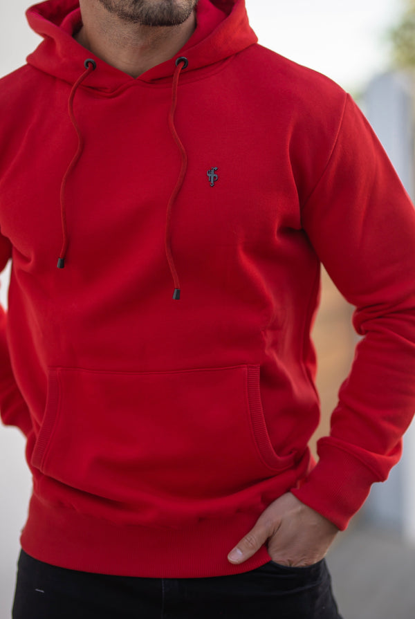 Father Sons Red & Black Overhead Hoodie Jumper - FSH549 (PRE ORDER 18TH MARCH)