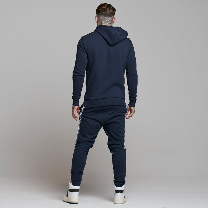 Father Sons Tapered Navy Hoodie Top - FSM005