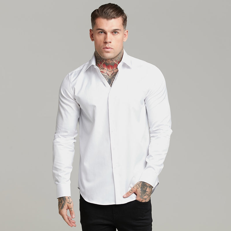 Father Sons Classic White Twill Cutaway Collar - FS599