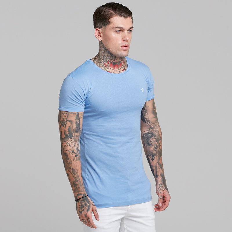 Father Sons Light Blue Bamboo Crew - FSH224
