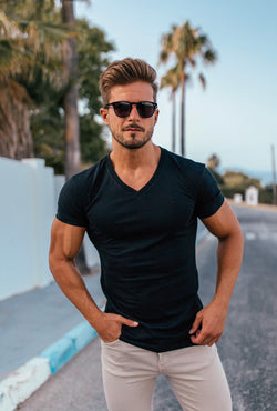 Father Sons Classic Black V Neck -  FSH190