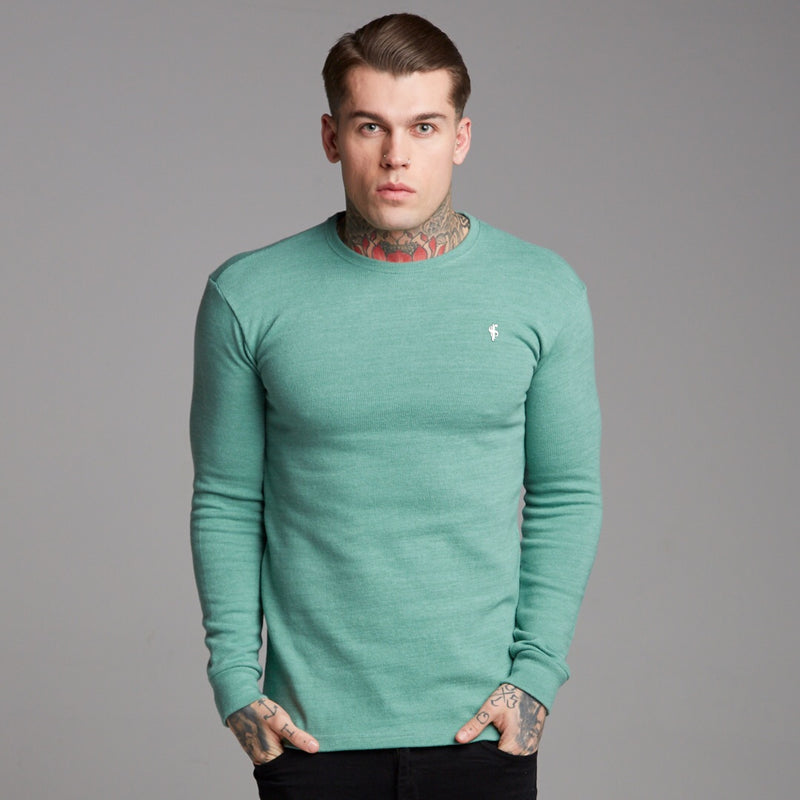 Father Sons Classic Green Super Slim Jumper - FSH233