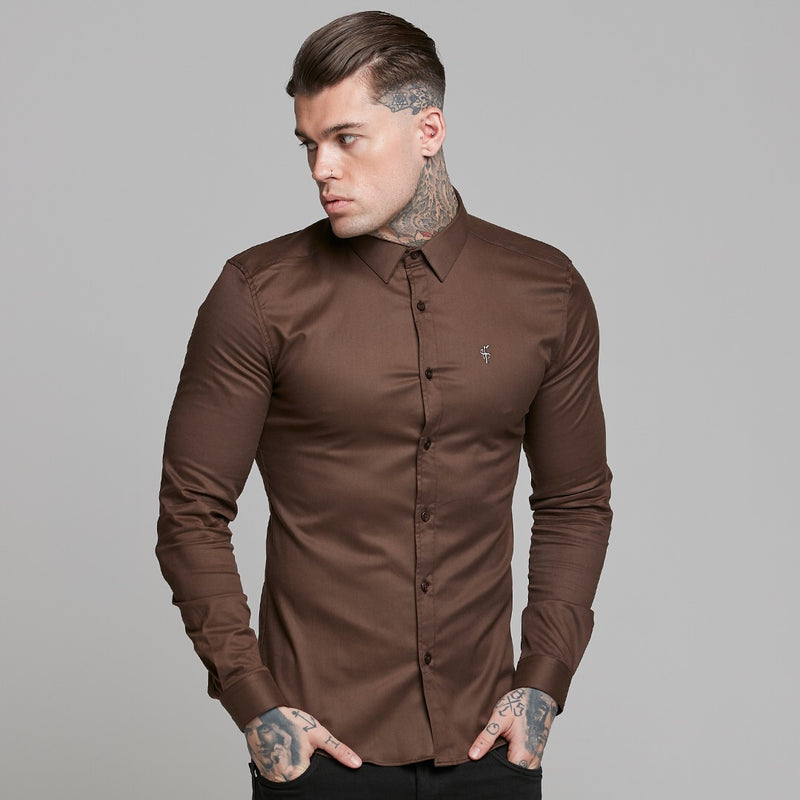 Father Sons Super Slim Luxe Ultra Stretch Brown -  FS533