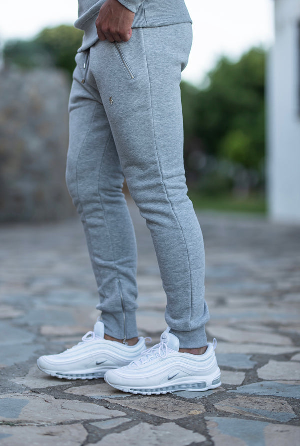 Father Sons Light Grey & Silver Tapered Bottoms with Ankle Zip Detail - FSH474  (PRE ORDER / DISPATCH DATE 22ND JUNE