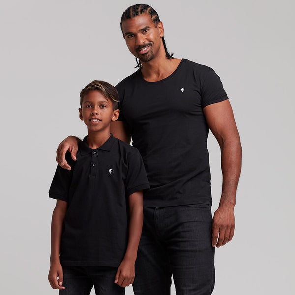 Father Sons Boys Classic Black Polo Shirt - FSB019