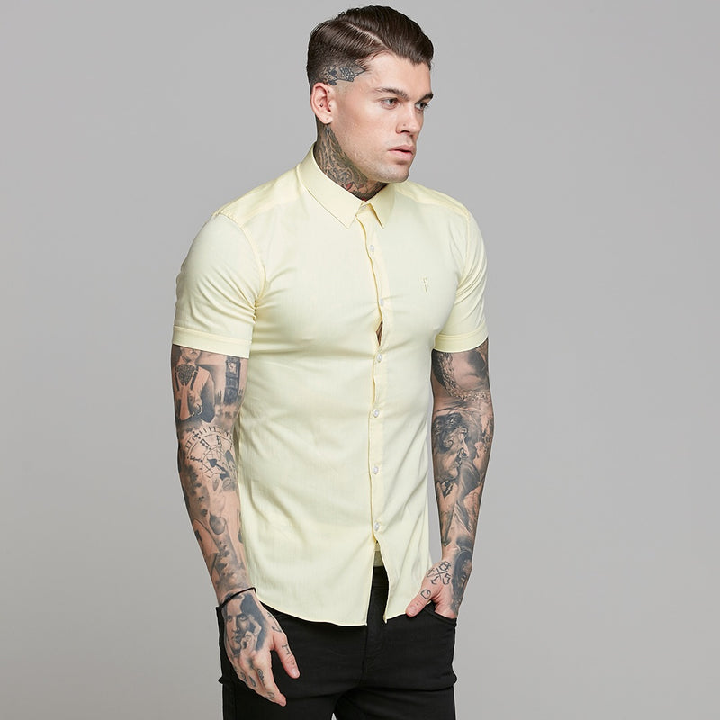 Father Sons Super Slim Ultra Stretch Yellow Short Sleeve - FS518