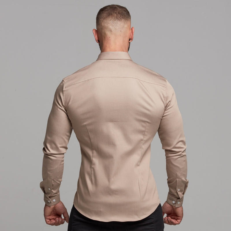 Father Sons Super Slim Stretch Beige Denim Long Sleeve - FS343