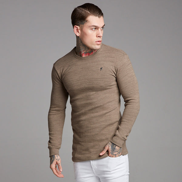 Father Sons Classic Brown Super Slim Jumper - FSH229