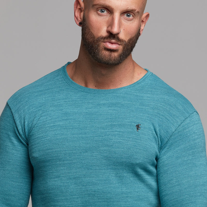 Father Sons Classic Teal Super Slim Jumper - FSH232