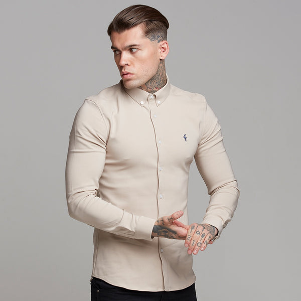 Father Sons Super Slim Scuba Taupe Long Sleeve Stretch - FS486