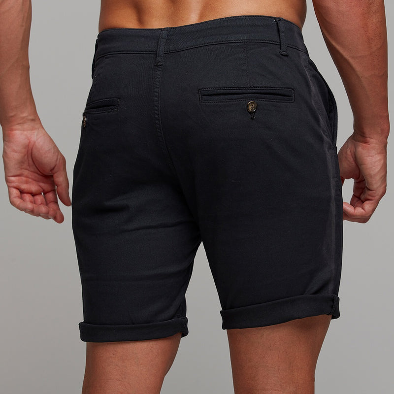 Father Sons Slim Fit Black Chino Shorts - FSH266