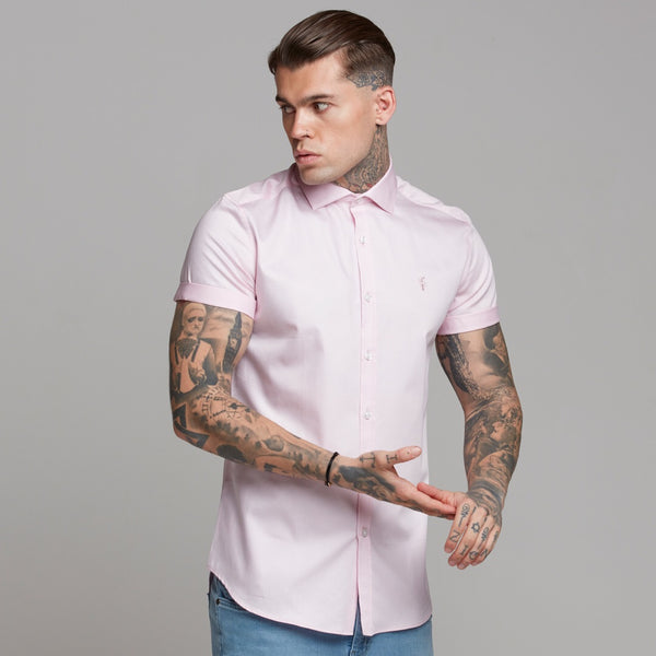 Father Sons Classic Pink Luxe Egyptian Cotton Short Sleeve - FS444