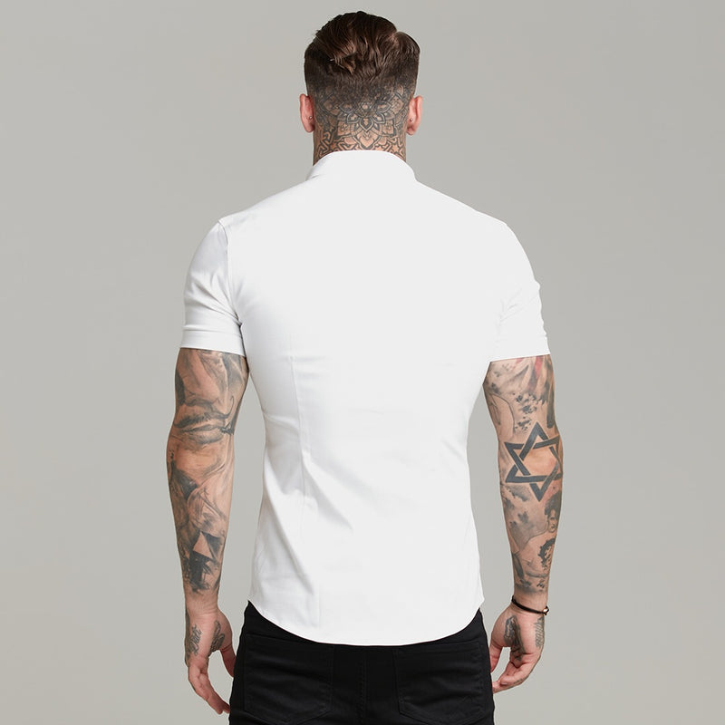 Father Sons Super Slim Stretch White Denim Short Sleeve - FS598