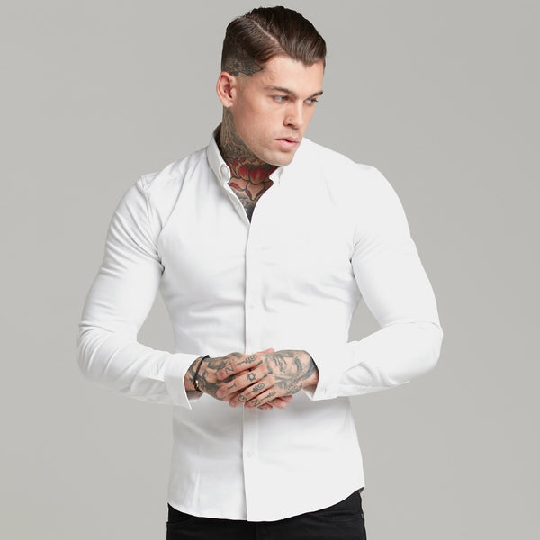 Father Sons Super Slim Stretch White Denim Long Sleeve - FS597