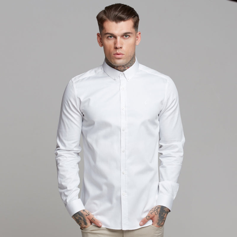 Father Sons Classic White Luxe Egyptian Cotton Button Down - FS493