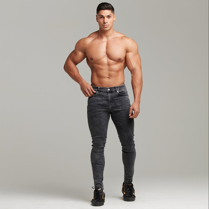 Father Sons Slim Stretch Black Acid Wash Jeans - FSH301