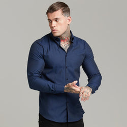Father Sons Classic Navy Royal Oxford Luxe Button Down - FS610