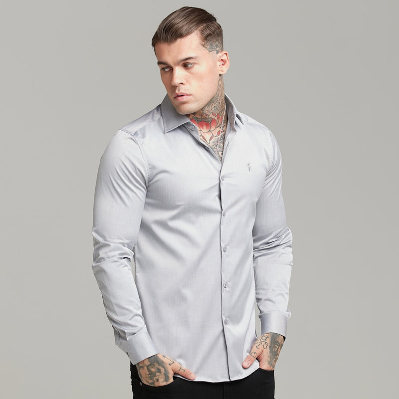 Father Sons Classic Grey Cutaway Collar - FS602