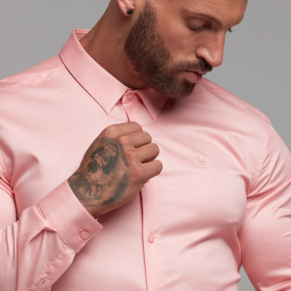 Father Sons Super Slim Luxe Ultra Stretch Pink Long Sleeve -  FS389