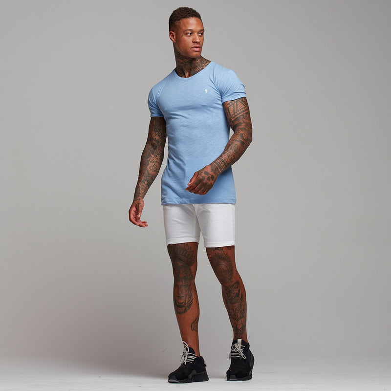 Father Sons Light Blue Slub Crew - FSH051